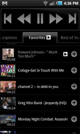 youtube android control