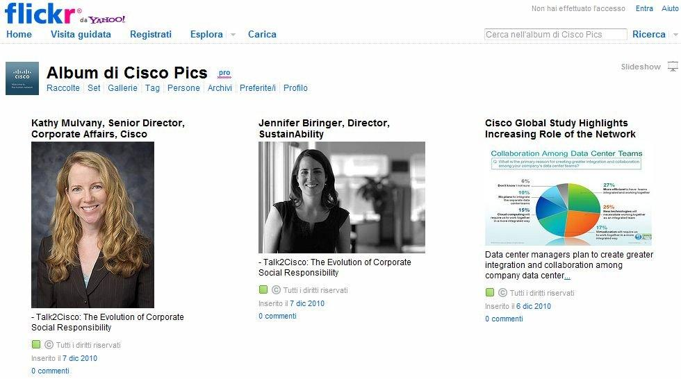 Photostream di Cisco su Flickr