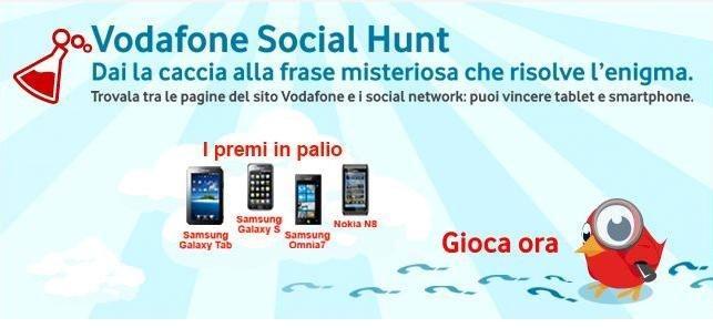 Vodafone Social Hunt Homepage