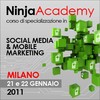 Ancora pochi giorni per iscriversi al corso Ninja Academy in Social Media e Mobile Marketing