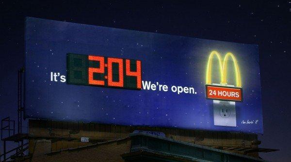 McDonald's e la sua campagna di guerrilla: Fiammiferi a forma di patatine e porta vivande oversize!