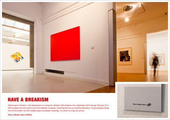 Have a Breakism, Kit Kat in mostra in una Galleria d'Arte [AMBIENT]
