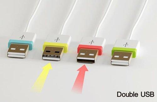 Con la doppia USB, non sbaglieremo mai più il verso!