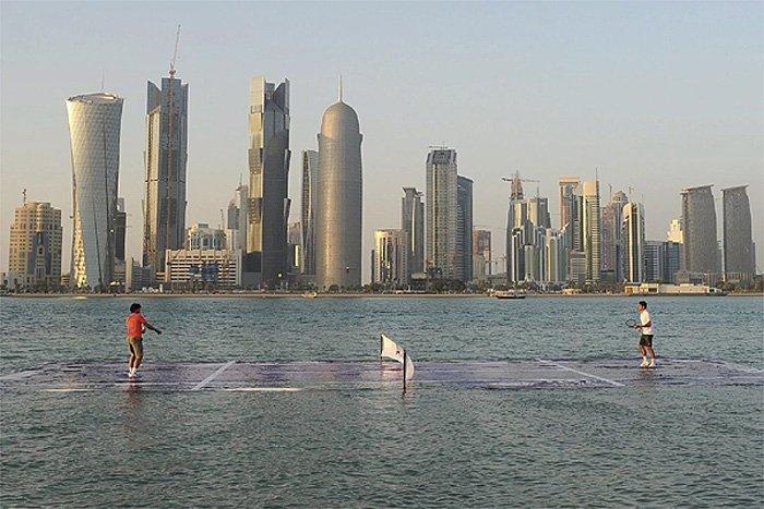 Tennis sull'acqua, le tigri del Medioriente scelgono la comunicazione non-convenzionale