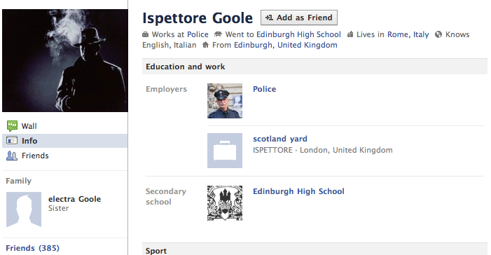 Goole su Facebook