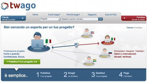 Homepage Twago