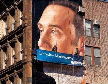 "Il ""capolavoro"" Gillette a New York [AMBIENT MARKETING]"