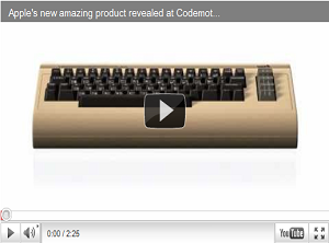 Apple lancia un nuovo incredibile computer a Codemotion: Apple C64 [VIRAL VIDEO FAKE]