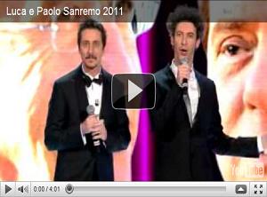 Ti sputtanerò! Luca e Paolo a Sanremo 2011 cantano il caso Ruby