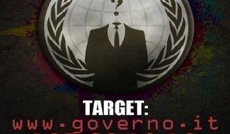 Governo.it sotto attacco degli Anonymous. [UPDATE] 13 febbraio: il target si sposta su camera.it