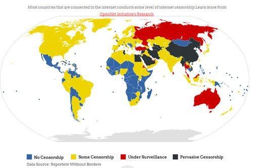 La censura di Internet nel mondo [INFOGRAFICA]