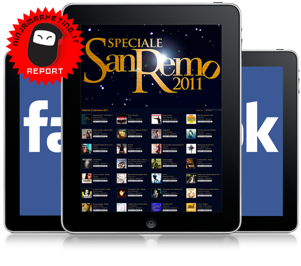 ninja marketing report sanremo facebook