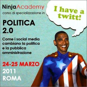 24-25 marzo: a Roma il primo corso in Politica 2.0!
