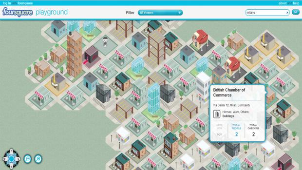 Foursquare + HTML5 = Foursquare Playground 3D