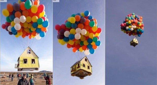 La prossima volta che alzate gli occhi al cielo, non stupitevi. Ecco a voi la casa che vola!