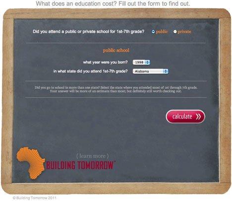 Quanto costa la nostra istruzione? Building Tomorrow lancia una provocazione