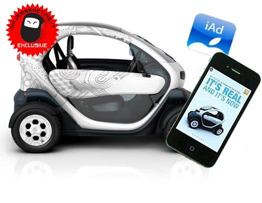 Renault Twizy: l'advertising su iPhone con iAd [CASE STUDY]