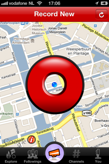 Shoudio: here me now! L'audio location based app