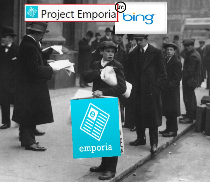 Bing lancia Emporia: le news diventano personalizzate