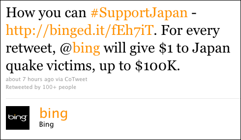 [BREAKING NEWS] Bing chiede scusa per il tweet sul terremoto in Giappone