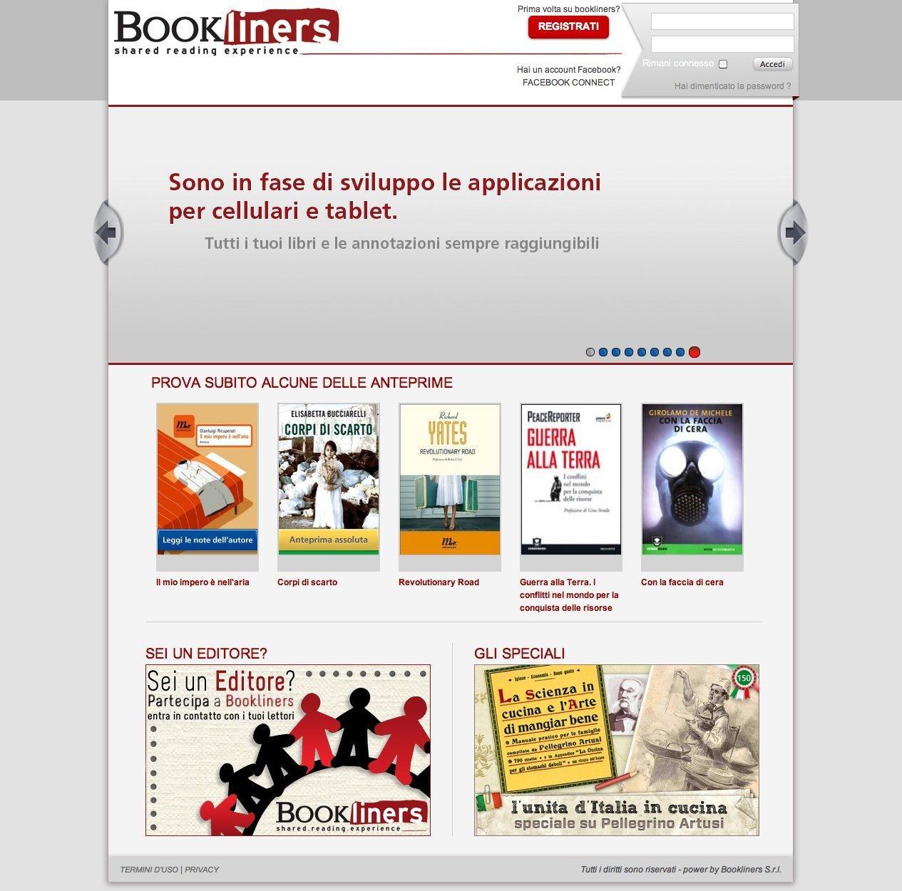 Bookliners: il social network dei libri