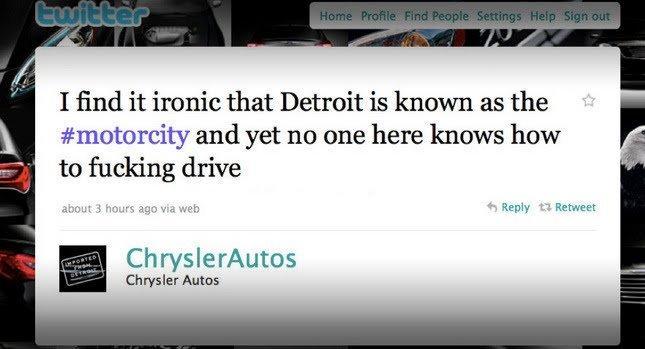 Ancora brand reputation: il tweet della discordia di Chrysler