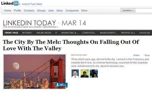 Linkedin Today: quando il giornale professionale diventa social.