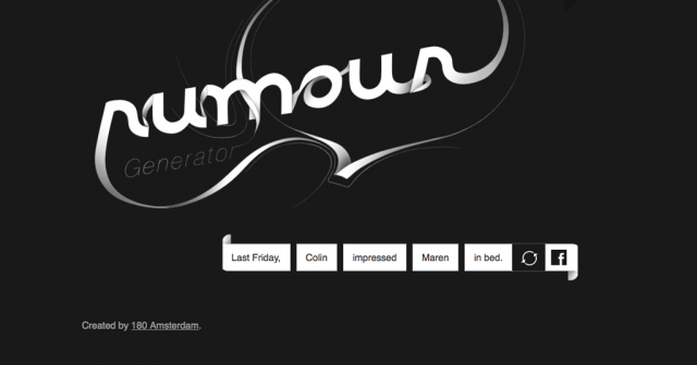 Rumour Generator: come generare e diffondere gossip sul web