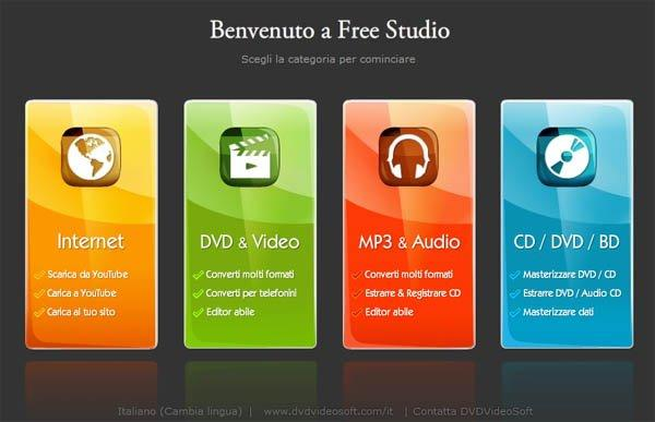 Vuoi scaricare gratis video e mp3 da Youtube? DvdVideoSoft Free Studio!