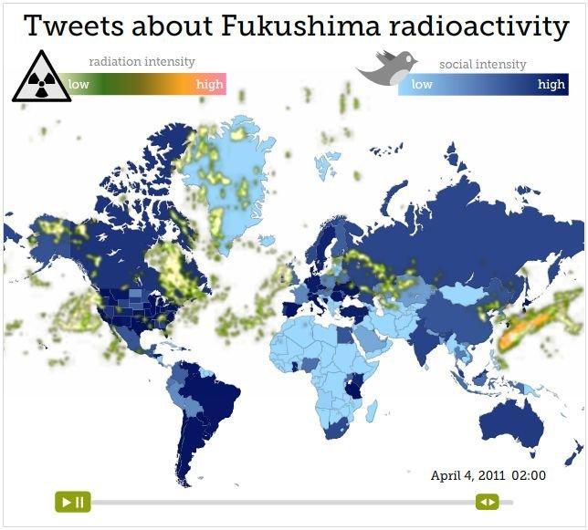 Fukushima: ecco come la nube radioattiva ha influenzato i social network [RICERCA]