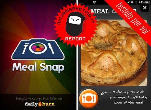 Meal Snap: La migliore App U.S. per controllare il contenuto calorico del cibo