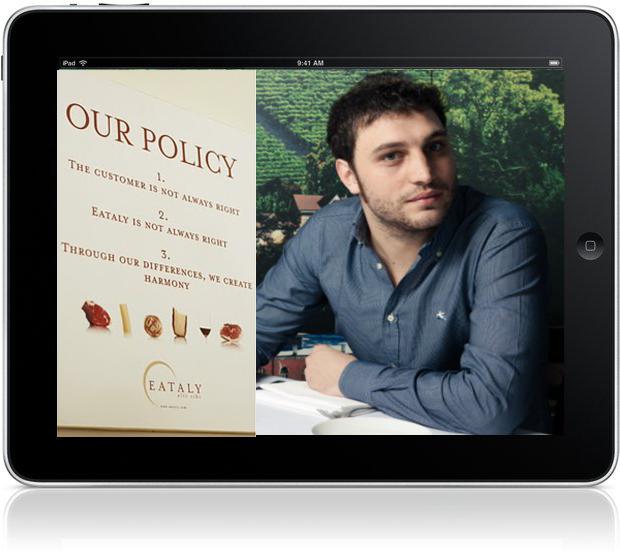 Mobile Experience: Intervista a Nicola Farinetti, Store Manager di Eataly New York!