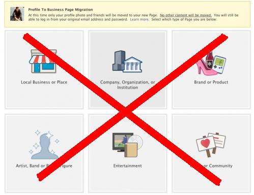Migrazione da profilo a pagina: pro e contro