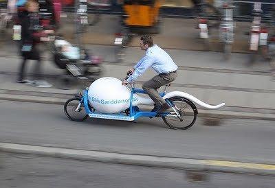 The Sperm Bike: una bici per trasportare le donazioni di sperma a Copenhagen