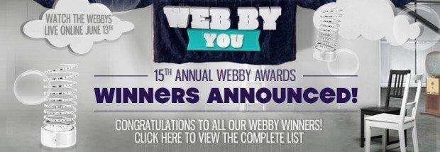 Online i vincitori dei 15th Annual Webby Awards!