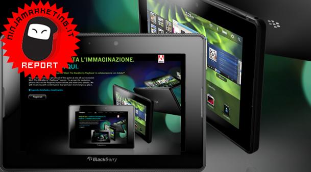 BlackBerry PlayBook: presentazione italiana [BREAKING NEWS]