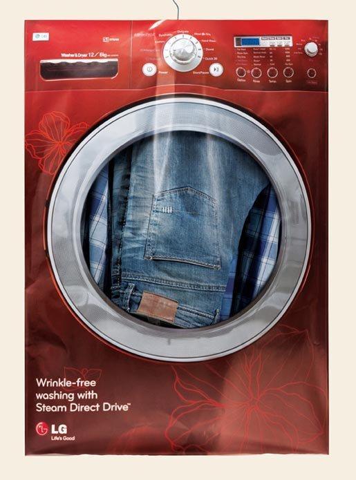 Buste di lavanderia conquistano Dubai per la lavatrice antistropiccio LG