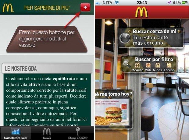 Mc Donald's Italia su iPhone: l'app ufficiale punta su valori nutrizionali e trasparenza