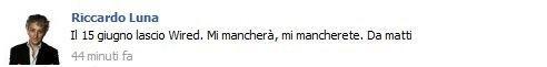 [UPDATE] Riccardo Luna lascia Wired
