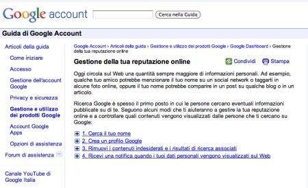 Me on The Web di Google: ecco lo strumento per gestire la tua reputazione