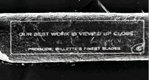 Gillette entra nel guinness con la pubblicità più piccola del mondo