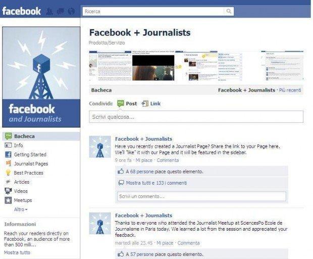 Facebook per i giornalisti