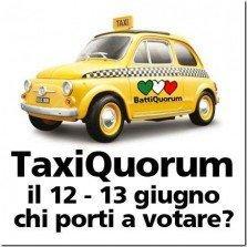 Come andare a votare? Ecco Taxi Quorum [REFERENDUM]