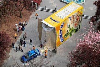 Honda e il premio nei cereali a grandezza naturale
