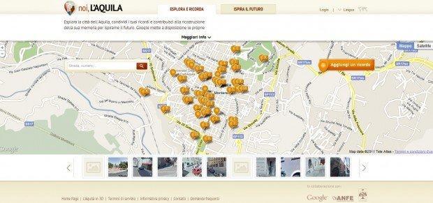 Noi, L'Aquila: Google al servizio della ricostruzione post terremoto