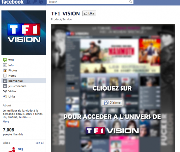 Streaming su Facebook: TF1 lancia la Social VOD