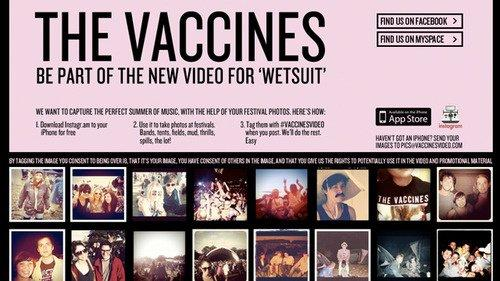 Wetsuit – The Vaccines: il primo video musicale in crowdsourcing da Instagram
