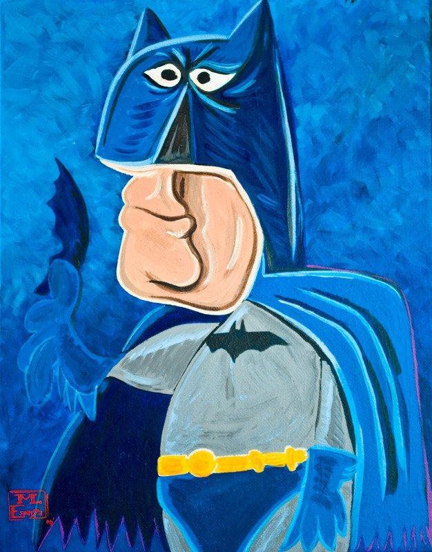 Ritratti comics in stile Picasso: Supereroi al cubo