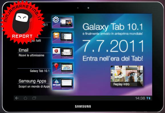 Samsung Galaxy Tab 10.1: Anteprima mondiale in Italia