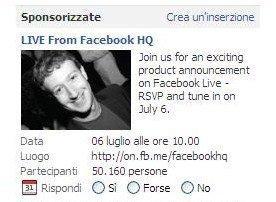Mercoledì Facebook annuncerà un nuovo prodotto: sarà la video chat?